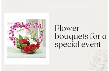 Types of flower bouquets Dubai for a special event